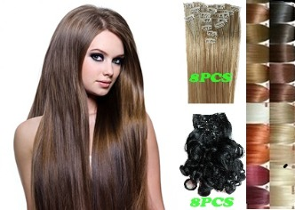 Hair Extensions -8pc Clip in