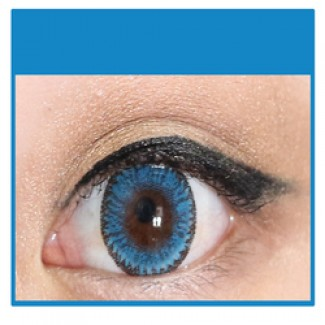 204728ab00d BLUE Cosmetic Coloured Contact Lenses Dodo