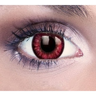 Possessed Red Halloween Contact Lenses 1 Year