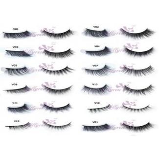 False Eyelashes - Choose 12 styles - Dramatic Full Dense Wispy Natural Crisscross