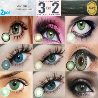 Green Natural Coloured Contact Lenses Two & Three Tone (2 lenses) 365 Days