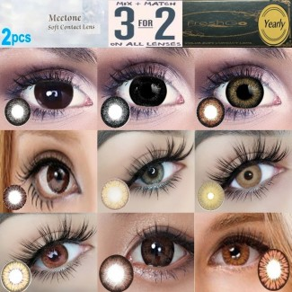 Brown Chocolate Black Natural Coloured Contact Lenses Two & Three Tone (2 lenses) 365 Days
