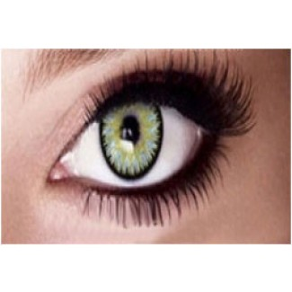 GREEN 12 Month Wear 3for2 on ALL Contact Lenses Lens MARINE2 Natural Coloured 2 TONE Contacts lens (2 lenses)