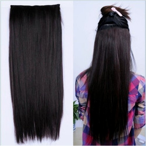 Straight one piece clip hair extensions long extensions clip in hair extensions quickclipinhairextensions pmusecretfo Images