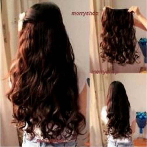 Curly one piece clip hair extensions curly hair extensions brown wig clip in hair extensions quickclipinhairextensions pmusecretfo Choice Image