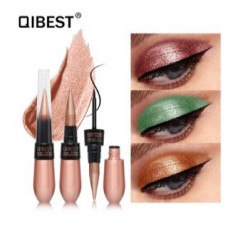 Double Head Matte Shimmer Eyeshadow and Eyeliner Waterproof Eyes Makeup QIBEST - 15 SHADES