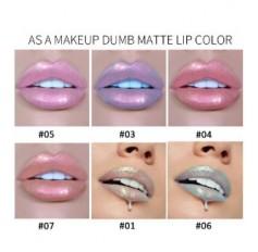 HANDAIYAN Waterproof Mermaid Unicorn Iridescent Pastel Lipstick Lip Liquid Shimmer Lip Make Up - 5 SHADES