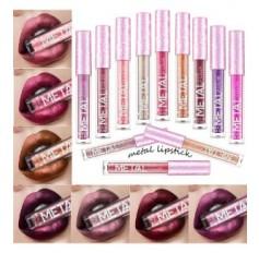 METAL Waterproof Metallic Lipstick Lip Liquid Shimmer Lip Make Up - 12 SHADES