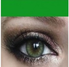 GREEN Contact Lens Annual 1 year wear MEL Natural Coloured Contacts 2 lenses pair
