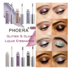 PHOERA Magnificent Metals Glitter Liquid Eye-shadow - 18 SHADES