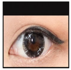 BLACK Coloured Contact Lens Ministar 4 tone  -1 Year (Pair)