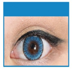 BLUE Cosmetic Coloured Contact Lenses Dodo - 1 Year (Pair)
