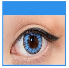BLUE Coloured Contact Lenses MEL - 1 Year (Pair)