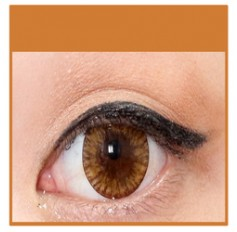 BROWN Coloured Contact Lenses MEL - 1 Year (Pair)