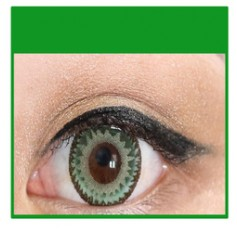 GREEN Cosmetic Coloured Contact Lenses Dodo - 1 Year (Pair)