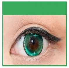 GREEN Coloured Contact Lens Ministar 4 tone  -1 Year (Pair)