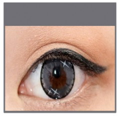 GREY Coloured Contact Lens Ministar 4 tone  -1 Year (Pair)
