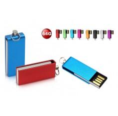 64GB or 128GB Multi Color Swivel USB 2.0 Flash Drive Memory Stick Storage Pen - 8 COLOURS