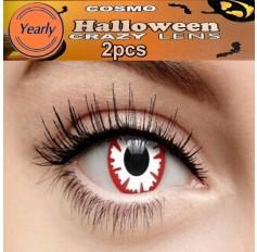 Demon Fancy Dress Crazy Halloween Contact Lenses Lens 12 Month wear (2 lenses)