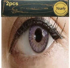 VIOLET Long Wear Contact Lenses Lens 1 Tone (TINTING ONLY) Subtle Natural Grey Coloured Contact lens PAIR (2 lenses)
