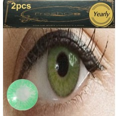 GREEN Long Wear Contact Lenses Lens 1 Tone (TINTING ONLY) Subtle Natural Green Coloured Contact lens PAIR (2 lenses)