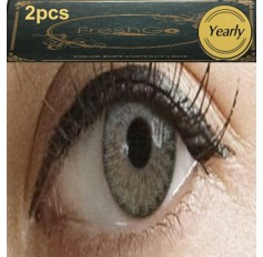 GREY Long Wear Contact Lenses Lens 1 Tone (TINTING ONLY) Subtle Natural Grey Coloured Contact lens PAIR (2 lenses)