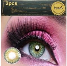 GREEN Coloured Contact Lens Pair 3 TONE Freshgo Natural Green Contact Lenses Lens Contacts (2 lenses) A3
