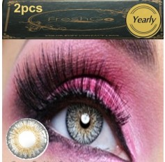 GREY Coloured Contact Lens Pair 3 TONE Freshgo Natural Grey Contact Lenses Lens Contacts (2 lenses) A3