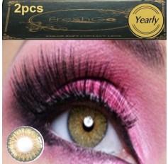 HAZEL BROWN Coloured Contact Lens Pair 3 TONE Freshgo Natural Grey Contact Lenses Lens Contacts (2 lenses) A3