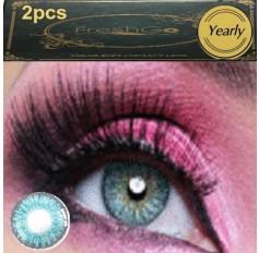 SKY BLUE Coloured Contact Lens Pair 3 TONE Freshgo Natural Light Blue Contact Lenses Lens Contacts (2 lenses) A3