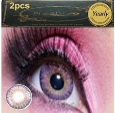 VIOLET Coloured Contact Lens Pair 3 TONE Freshgo Natural Violet Purple Contact Lenses Lens Contacts (2 lenses) A3