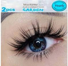 BLUE 12 month wear Contact Lenses Lens AL GARDEN Natural Blue Coloured Contacts lens (2 lenses)