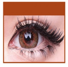 BROWN Coloured Natural Looking Contact Lenses Cuno 3 Tone - 1 Year (Pair)