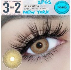 BROWN Contact Lenses Lens NEW YORK 3 Tone Brown Coloured Contacts lens Extended wear (2 lenses)