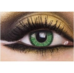 GREEN Year Usage Chanel 2 Tone Coloured Contact lenses lens pair