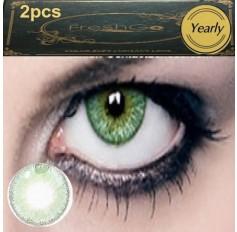 GREEN Coloured Contact Lens Pair 3 TONE Freshgo Natural Green Contact Lenses Lens Contacts (2 lenses) C3