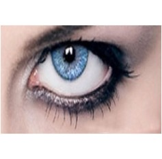 BLUE Year Usage Coloured Contact Lenses Lens Chanel 3 Tone Coloured Cosmetics