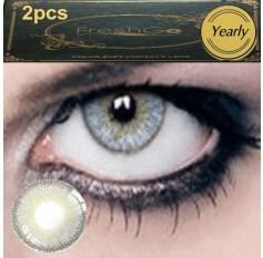 GREY Coloured Contact Lens Pair 3 TONE Freshgo Natural Grey Contact Lenses Lens Contacts (2 lenses) C3