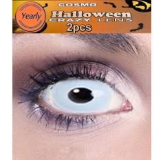 Ice Queen / Zombie Blue Fancy Dress Crazy Halloween Contact Lenses Lens 1 YEAR