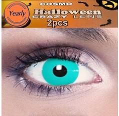 Frozen Ghost Blue Fancy Dress Crazy Halloween Contact Lenses Lens 1 YEAR