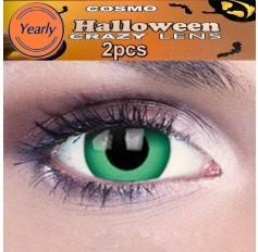 Green Ghoul / Monster Inc / Hulk Fancy Dress Crazy Halloween Contact Lenses Lens 1 YEAR