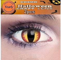 Red Fire Dragon Fancy Dress Crazy Halloween Contact Lenses Lens 1 YEAR