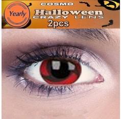 Hatake/Kakashi Naruto Red Black Fancy Dress Crazy Halloween Contact Lenses Lens 1 YEAR
