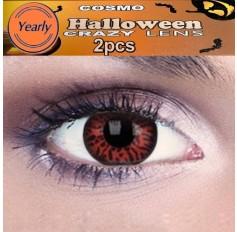 Volturi Vamire  Fancy Dress Crazy Halloween Red Contact Lenses Lens 12 Month wear (2 lenses)