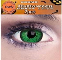 Green Troll Fancy Dress Crazy Halloween Contact Lenses Lens 12 Month wear (2 lenses)