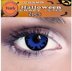 Blue Wolf Wizzard Fancy Dress Crazy Halloween Contact Lenses Lens 12 Month wear (2 lenses)