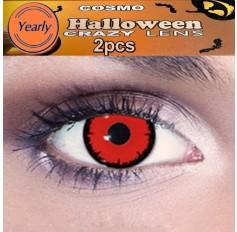 Red Hulk Fancy Dress Crazy Halloween Contact Lenses Lens 12 Month wear (2 lenses)