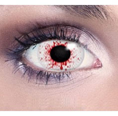 Blood Splat eye contacts | Free solution | Quickclipinhairextensions.co.uk