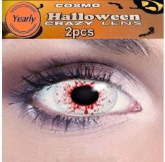 Blood Splat Eye Fancy Dress Crazy Halloween Contact Lenses Lens 1 YEAR
