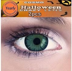 Green Wolf Fancy Dress Crazy Halloween Contact Lenses Lens 12 Month wear (2 lenses)